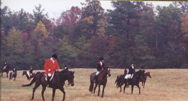 Pony Club Annual Mock Hunt (Pony Clubbers are both fox and hounds.)